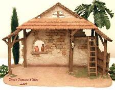 "Fontanini Italy 5"" Italian Brick/Stucco Resin Nativity Village Stable 50462 Nib"