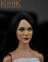 KUMIK 1:6 Scale KM16-21B Black Hair Girl Head Sculpt Fit 12'' Female Figure Body