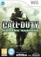 Call of duty Modern Warfare reflex Console Wii, jeu vendu sans boitier ni notice