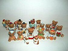 17 Homco Porcelain Bear Figurines Lot Sri Lanka