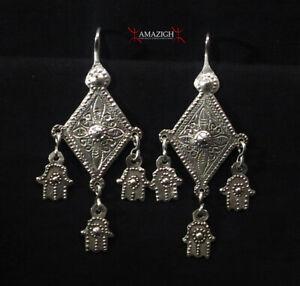Antique Berber Earrings - Khamsa, South Morocco