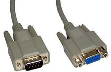 9 Pin Serial RS232 Com Male to Female Extension Cable Lead Extender 10m LONG