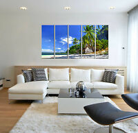 5 Piece Tropical Palm Seascape Beach Canvas Wall Art Print Decor for Living Room