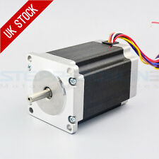 Nema 23 Stepper Motor 2.83Nm 4A 8-wire 6.35mm Dual Shaft CNC Mill Lathe Router