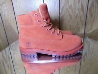 "TImberland 6"" inch Premium Boot Size 5 Youth 7Y Rust Waterproof Boys TB0A1BKS"