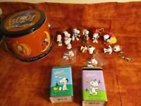Peanuts Gang Halloween Collectible Tin with Handle Loaded with Snoopy Figures