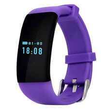 DFit D21 Heart Rate Monitor Waterproof Sports Bluetooth Smart Bracelet Purple