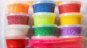 Perlenknete Wolkenschleim Modeliermasse in Dose 10 Farben Mitgebsel Knete