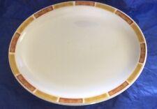 Mayer China Beaver Falls PA USA 373 Oval Serving Platter Red-Orange Gold White