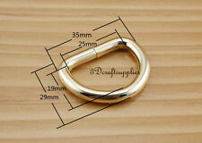 d ring d-rings purse ring Webbing Strapping metal light gold 1 inch 12pcs AB43