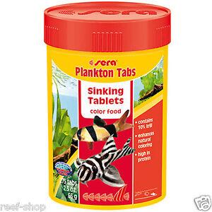 Sera Plankton Tabs 2.3oz - 275 Sinking Tablets Color Enhancing Fish Food