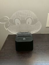 Turtles Cartoon Illusion LED Desk Lamp Night Light with Lighted ABS Base and USB