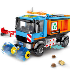 206pcs Sanitation Truck Vehicle Model Building Blocks with Figures Toys Bricks