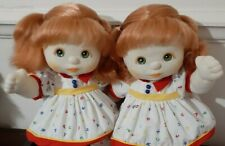 🎀 Mattel My Child Doll 💕 Twin Girls 💕 Red Ponies, Green Eyes 🎀Vintage 80's🎀