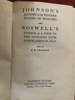 Johnson And Boswell Tour To The Hebrides 1944
