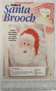 Make a beaded Santa Brooch - skill level intermediate