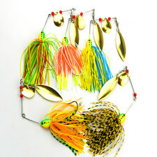 Lot 5PCS Metal Spinner Fishing Lures Bass CrankBait Spoon Baits Tackle Hook NEW