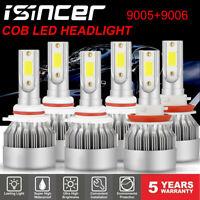 9005+9006+H11 LED Headlight Hi/Low Beam Bulb 6000K Fog Light Sets 4965W 744750LM