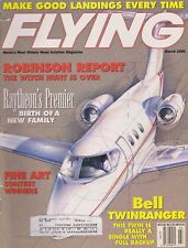 Flying Magazine (Mar 1996) (Raytheon Premier, Robinson Report, Bell Twinranger)