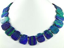 Beautiful Precious Stone Necklace in Azurite-Malachite -azm29k-481