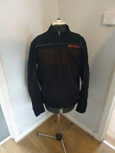 Harley Davidson Mens Jacket Size Large Black orange