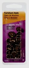 New Hillman Upholstery Tacks Furniture Nails #64 Daisy Head Antique Brass 122681