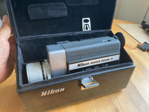 Nikon Super Zoom 8 Movie Camera for super-8 film with fitted leather case