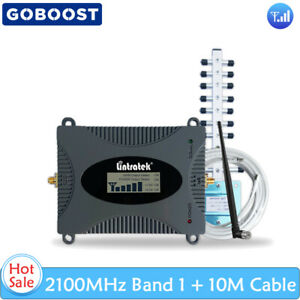 3G Band 1 2100MHz Mobile Phone Amplifier Enhance Signal SMA Repeater + Antenna