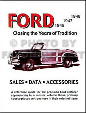 1946 1947 1948 Ford Car Accessories and Specifications Manual