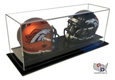 Double Mini Helmet Display Case Acrylic Counter or Desk Top by GameDay Display