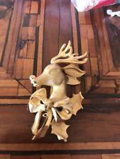 Rare! Vintage Reindeer Christmas  Brooch Spilla Renna Natale