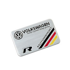 80*50mm For Volkswagen MotorSport Emblem Sticker Decal Metal Car Logo R Decals