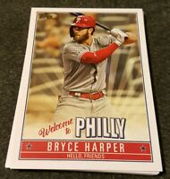 2019 TOPPS UPDATE WELCOME TO PHILLY *BRYCE HARPER* COMPLET INSERT SET *PHILLIES*