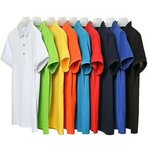 Polo Shirts: Men's Short Sleeve 100% Cotton Polo shirts || Winter Sale