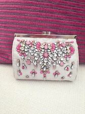 Accessorize Silver  with Pink  Gem Embellished Clutch Bag RRP £39