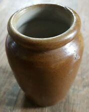 Brown Glaze Hand thrown Earthenware Vase, Studio Pottery marked 'GG'