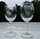 2008 US Army Military Academy Wine Glass Set - West Point Class of 2008