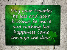 Metal Sign Irish blessing St Patricks day decorative green wall door plaque gift