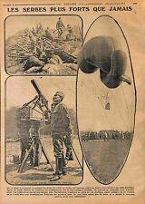 Serbia Soldiers Balloon Ballon Captif Observateur Machine Gun Belgrade 1915 WWI