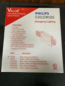 Philips Chloride VC Series-LED Combo White Housing Exit Sign