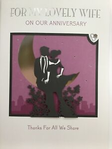 Beautiful Romantic Large Hallmark For My Lovely Wife Anniversary Card UntilDawn