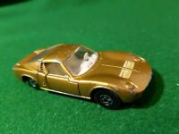 Matchbox Superfast No 33 Lamborghini Miura Gold Narrow Wheels (A)