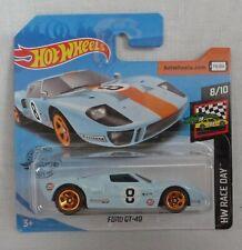 """HotWheels Ford GT-40 Pale Blue """"HW Race Day"""" 8/10"""