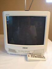 "Sony KV-13M53 13"" CRT Television Gamer Gaming White Color TV w/ Remote Trinitron"