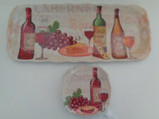 Melamine Serving Tray & Plates WINE Grapes & Cheese Theme 5 Piece Set New