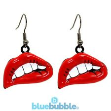 Bluebubble VAMPIRE KISS Earrings Sweet Punk Rock Chick Vamp Goth Emo Fancy Dress