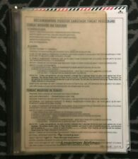 American Airlines Checklists and Procedure Lists - Boeing 707 and others