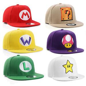True Heads Snapback Super Mario Bros Themed Baseball Caps Anime