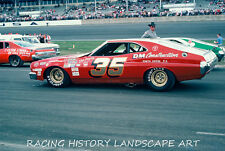 1975 DAYTONA 500 8x10 PHOTO WINSTON CUP #35 DANNY DAUGHTRY FORD NASCAR RACING