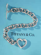 Tiffany & Co Sterling Silver Heart Arrow Toggle Charm Bracelet
